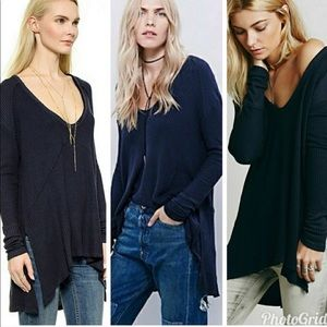 Free People Black Thermal Size Extra Small